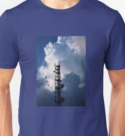 Antenna and thunderclouds Unisex T-Shirt