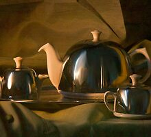 Afternoon Tea? - A Gentleman's Tea Set, Still Life by Mark Richards