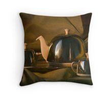 Afternoon Tea? - A Gentleman's Tea Set, Still Life Throw Pillow