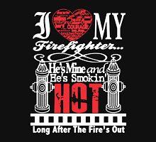 I Love My Firefighter Women T-Shirt