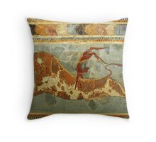 Knossos: Toreodor Fresco Throw Pillow