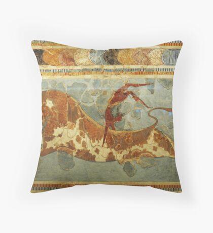 Knossos: Toreodor Fresco Throw Pillow