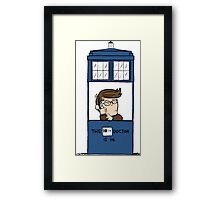 Doctor Who in Peanuts  Framed Print