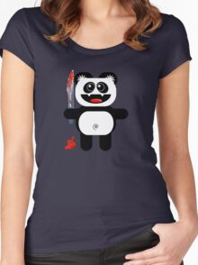 PANDA 2 (Cute pet with a sharp knife!) Women's Fitted Scoop T-Shirt