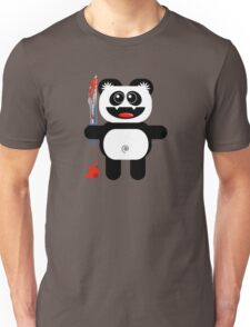 PANDA 2 (Cute pet with a sharp knife!) Unisex T-Shirt