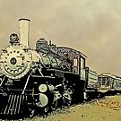 Steam Engine 44 Cartoon Style by Larry Oates