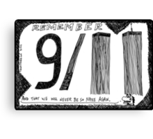 Remember 9/11 Canvas Print