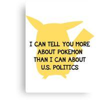 Culture of Pokemon Canvas Print