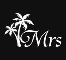 Mr and Mrs Tropical Beach Wedding Honeymoon Matching by CreativeTwins