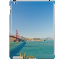 Golden Gate Bridge on a bright clear blue sky day iPad Case/Skin