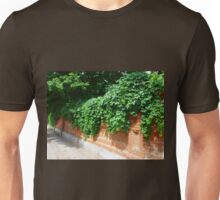 Stone wall of the old brick Unisex T-Shirt