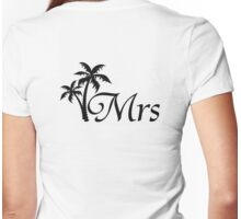 His and Hers Mr and Mrs Palm Tree Honeymoon Matching T-shirts Womens Fitted T-Shirt