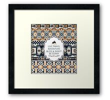 Seamless tribal pattern with geometric elements  Framed Print