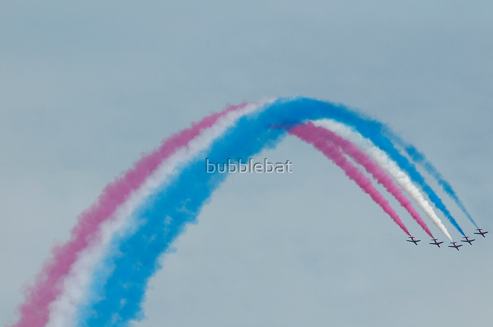 Red, White and Blue Smoke by bubblebat
