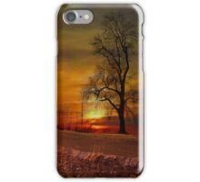 Sunset in Downham . iPhone Case/Skin