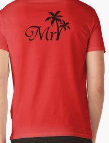 Mister Mr and Mrs Wedding Honeymoon Palm Tree Mens V-Neck T-Shirt