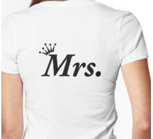 Honeymoon Newly Wed Mrs Wedding Tiara Bride Womens Fitted T-Shirt