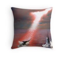 Life at Sea (wb) Throw Pillow