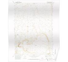 USGS Topo Map Oregon Fish Fin Rim 279869 1971 24000 Poster