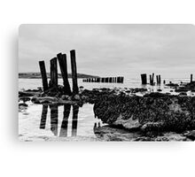 Coastal defences, Courtmacsharry Bay, West Cork, Ireland Canvas Print