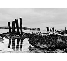 Coastal defences, Courtmacsharry Bay, West Cork, Ireland Photographic Print