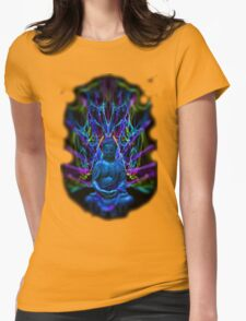 Psychedelic Buddah Womens Fitted T-Shirt