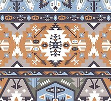 Seamless colorful tribal pattern by Olena Syerozhym