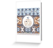 Seamless colorful tribal pattern Greeting Card
