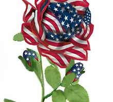 .♥➷♥•* Stars & Stripes Rose For 9-11 In Rememberance.♥➷♥•*¨ by ╰⊰✿ℒᵒᶹᵉ Bonita✿⊱╮ Lalonde✿⊱╮