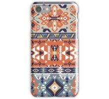 Tribal seamless vintage pattern with geometric elements iPhone Case/Skin