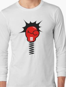 Comic Book Boxing Glove on Spring Pow T-Shirt