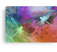 Amazing Dragonflies. Canvas Print