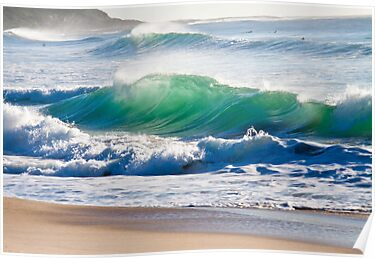 Emerald Waves by Isabel J Coote Photography