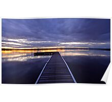 Peaceful Times. 11-9-11 (9-11) sunset Poster