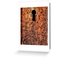 Key Hole Greeting Card