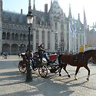 Horse and buggy in Bruges by SoulSparrow