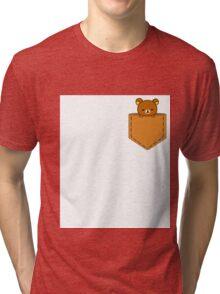 Rillakuma in the pocket ~ Tri-blend T-Shirt