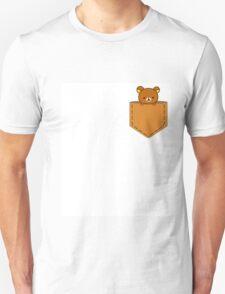 Rillakuma in the pocket ~ Unisex T-Shirt