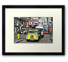 Yellow Taxi, London Framed Print