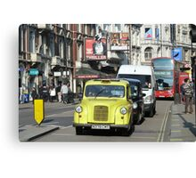 Yellow Taxi, London Canvas Print