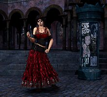 Day of the Dead Crimson Evening by Rivendell
