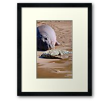 FRIENDS FOR......EVER, WITH MY SIZE... YES! - the Hippo's and the Crocodiles Framed Print