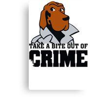 McGruff the Crime Dog Vintage 80's T-shirt Funny TV Canvas Print