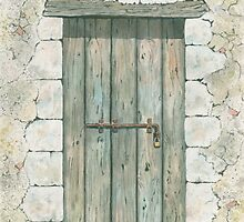 Old Wooden Door by ian osborne