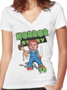 Horror Story Women's Fitted V-Neck T-Shirt