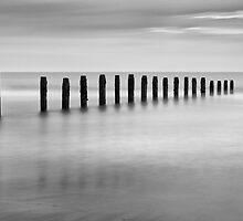 Blyth Beach B&W by Doug Dawson