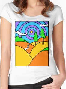 Landscape 1 Women's Fitted Scoop T-Shirt