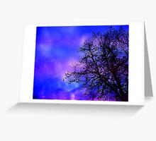 purple ripple sunset Greeting Card