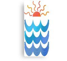 Sun & Waves Canvas Print