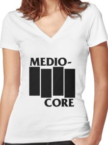Medio-Core Women's Fitted V-Neck T-Shirt